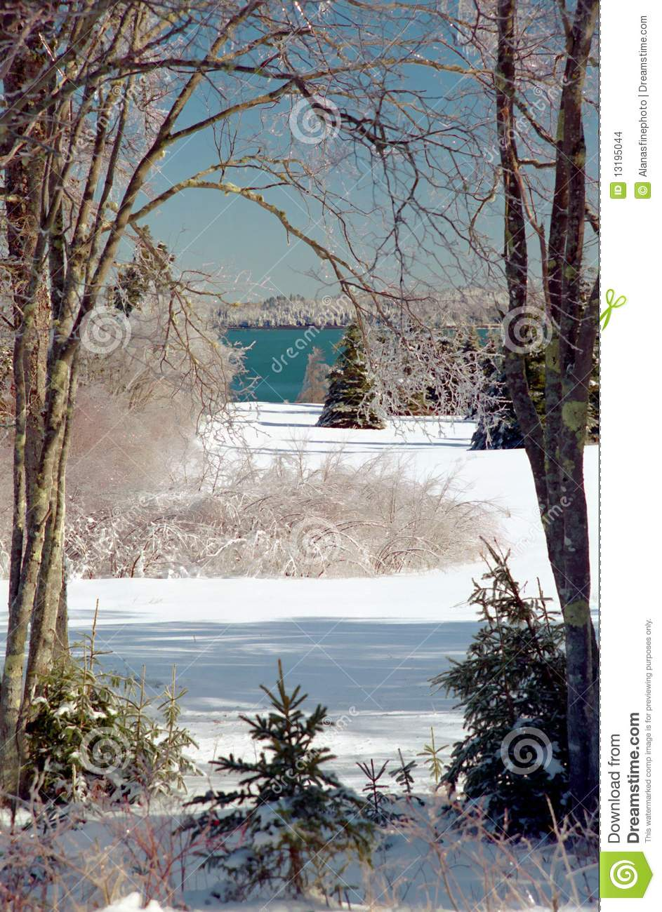 Download Icy winter wonderland stock photo. Image of rocks, water - 13195044