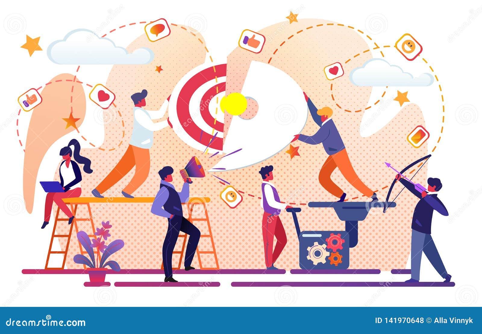 Idée créative de réussite commerciale Travail d équipe de bureau