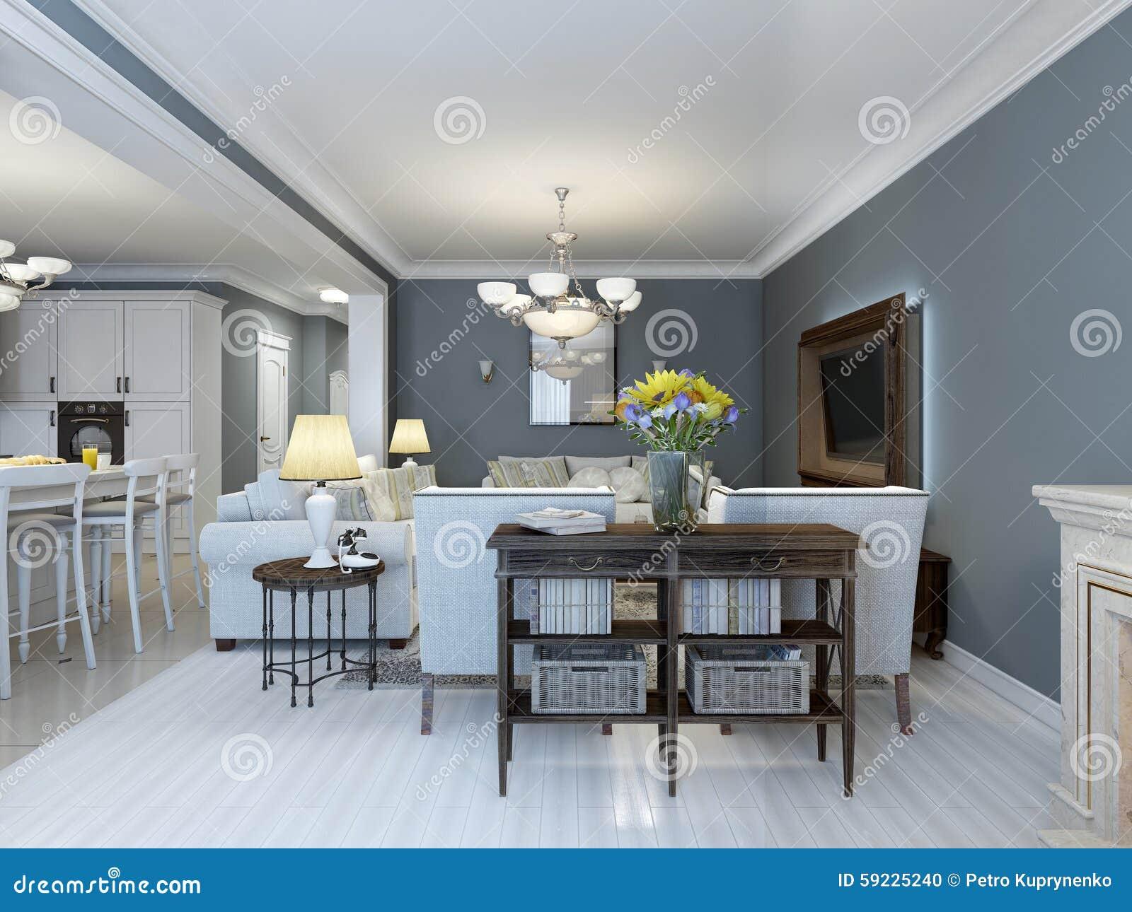 Idée de chambre à coucher de la Provence avec les meubles blancs