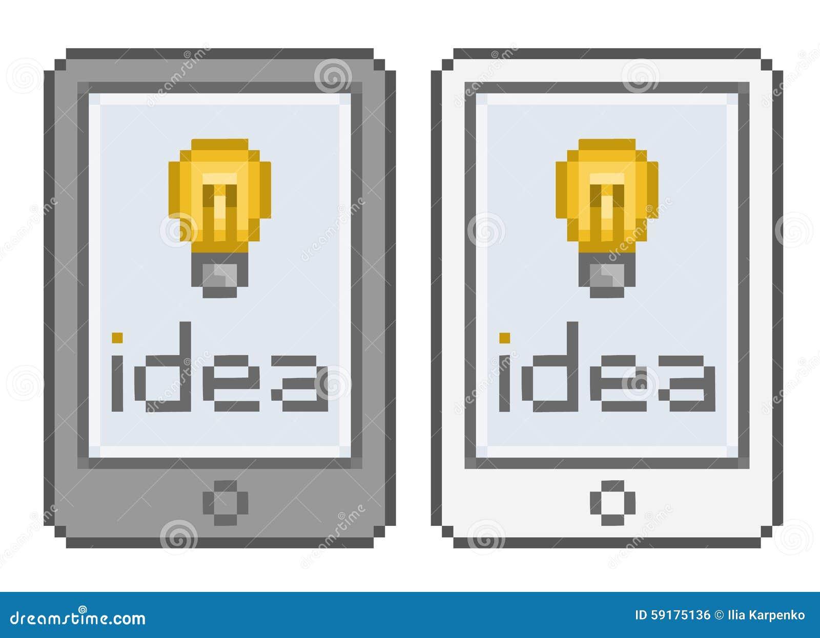 Idée De Comprimé Dart De Pixel Illustration De Vecteur