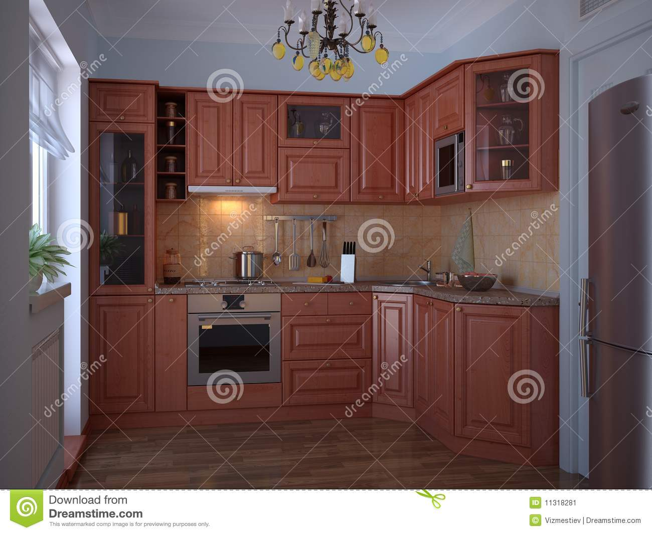 id e de conception de cuisine image stock image 11318281. Black Bedroom Furniture Sets. Home Design Ideas