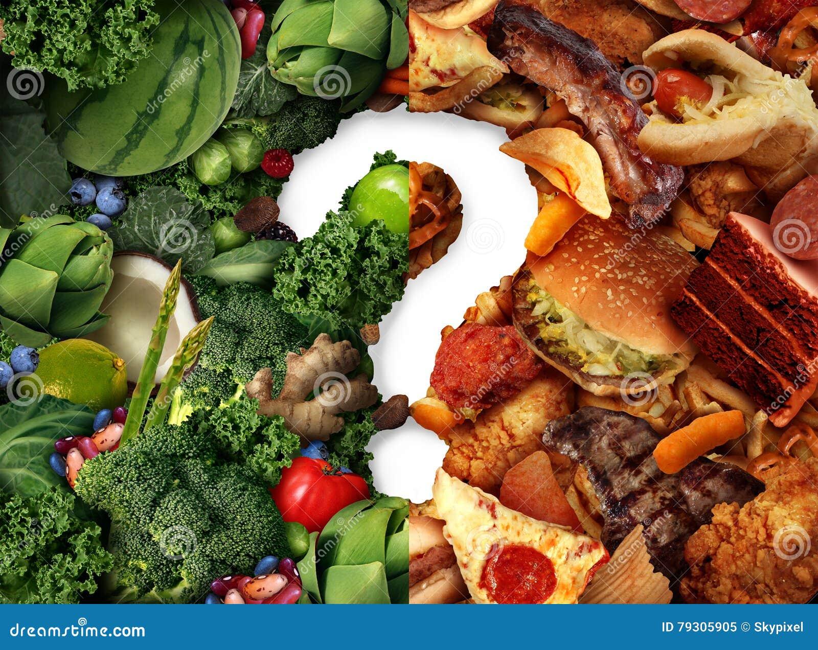 Idée de confusion de nutrition