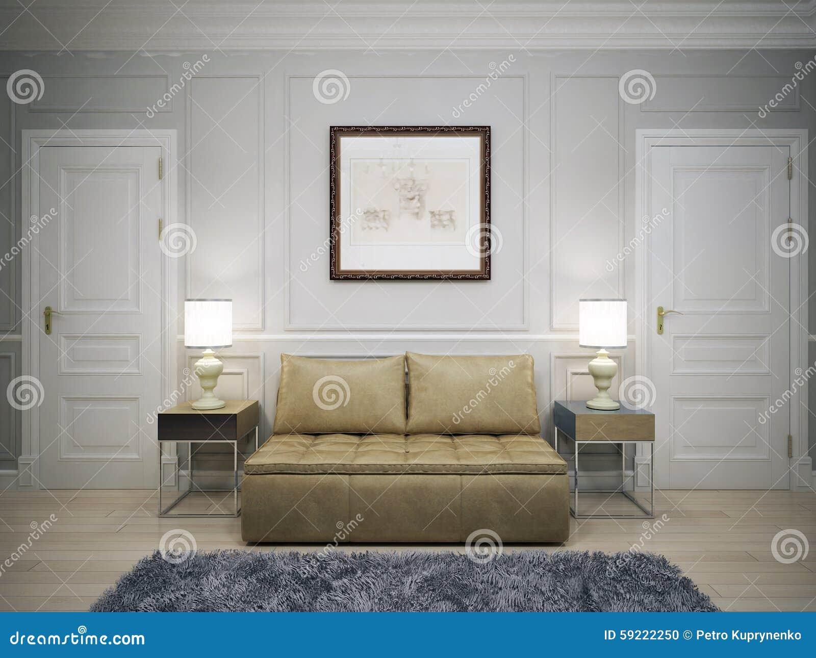 Idée de couloir moderne photo stock. Image du lampe ...