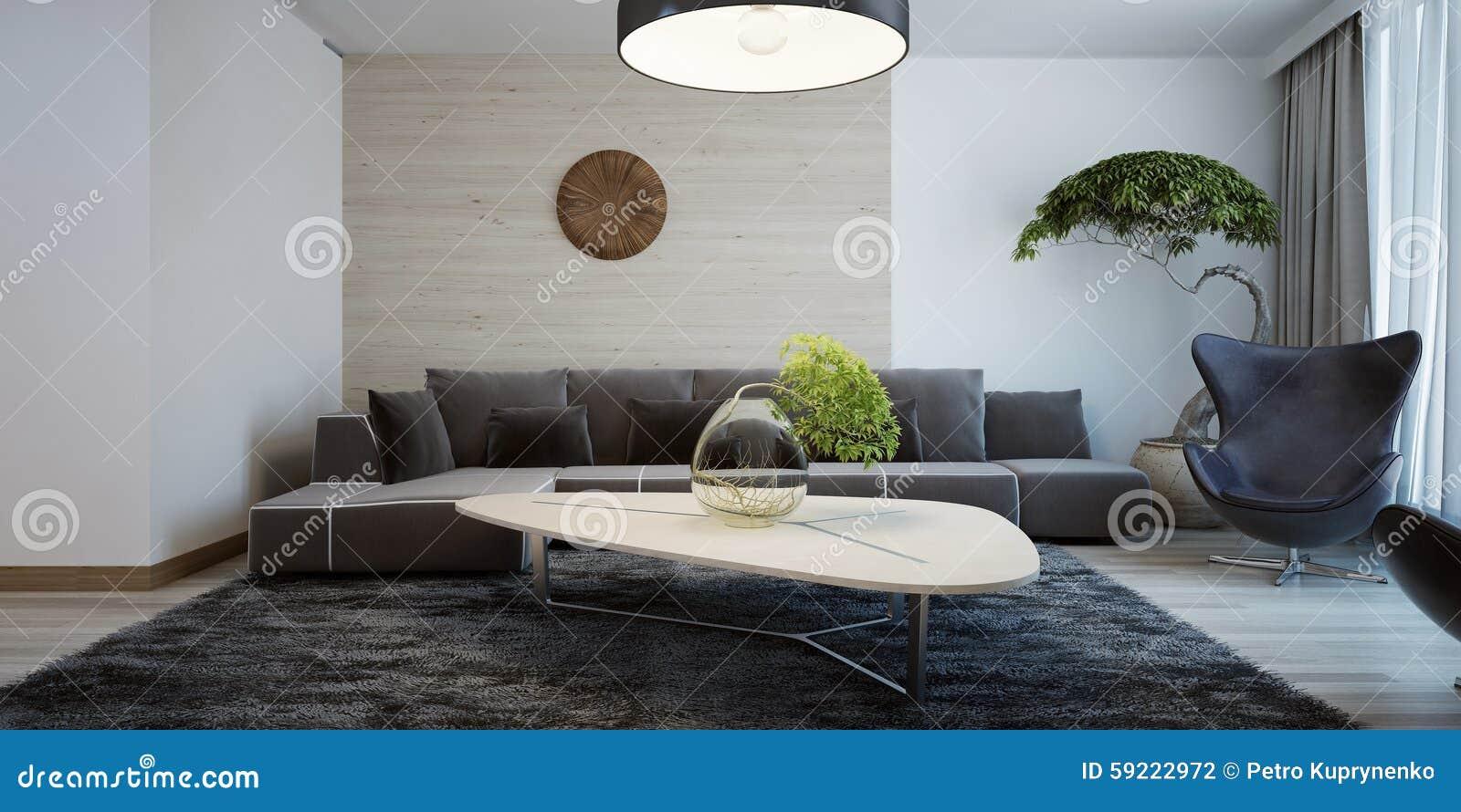 Idée de salon contemporain photo stock. Image du vert - 59222972