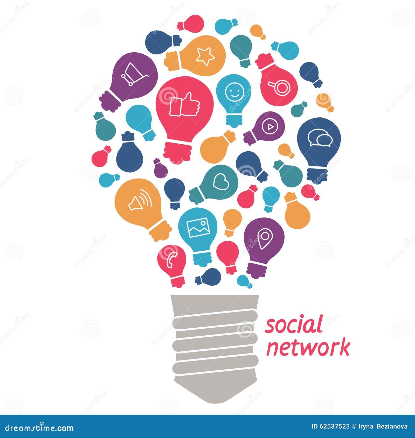 Idées d illustration dans le domaine du réseau social
