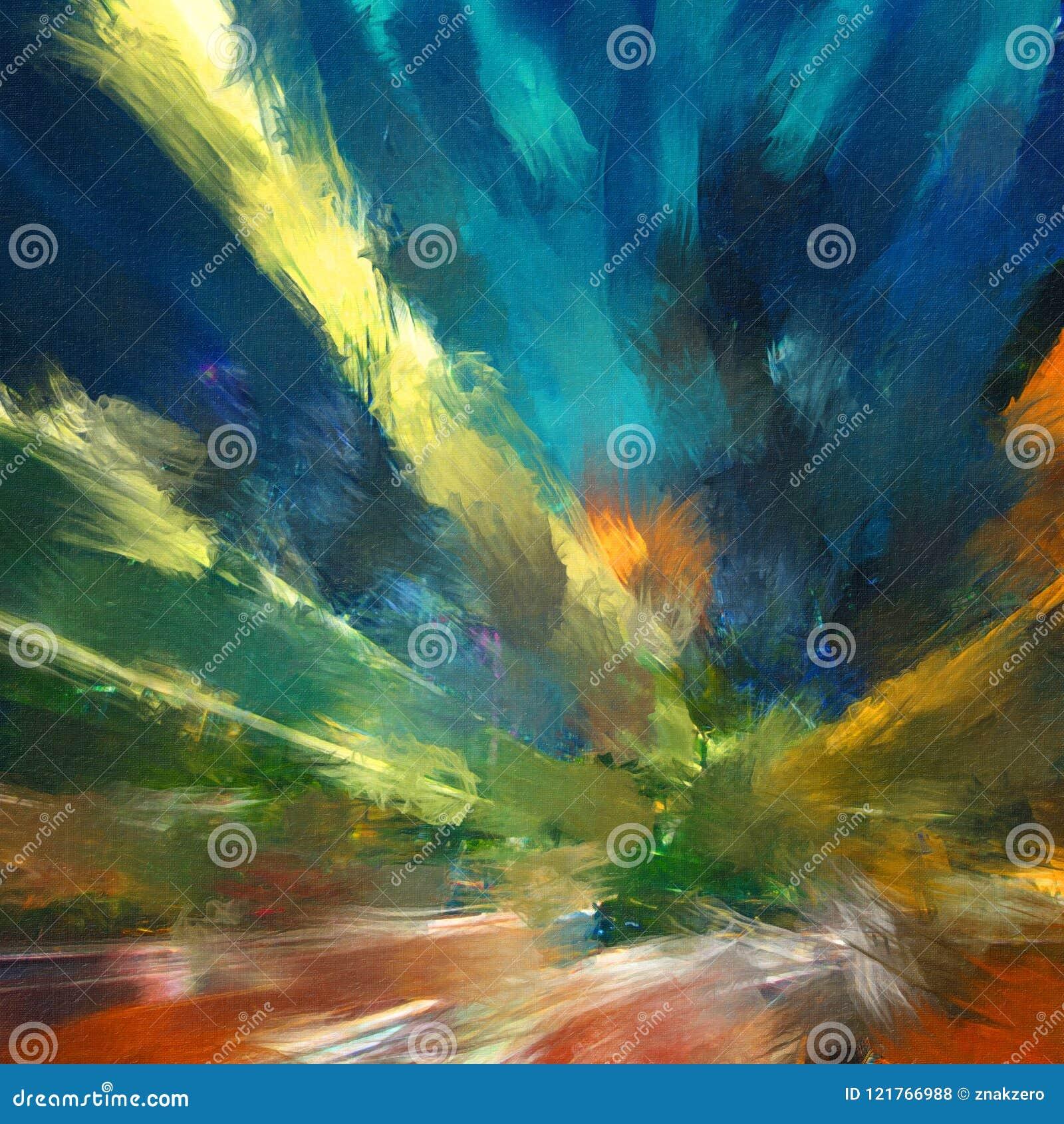 Idérik abstrakt hand målad bakgrund, tapet, textur, c