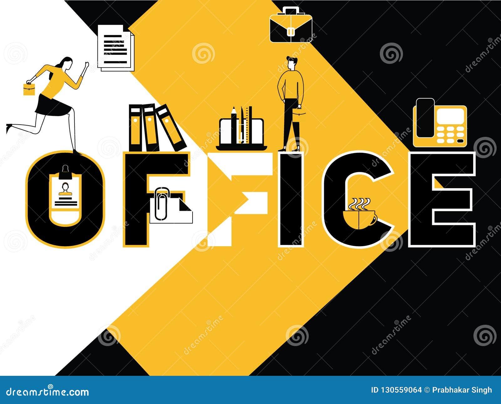Idérik aktivitet för för ordbegreppskontor och folk