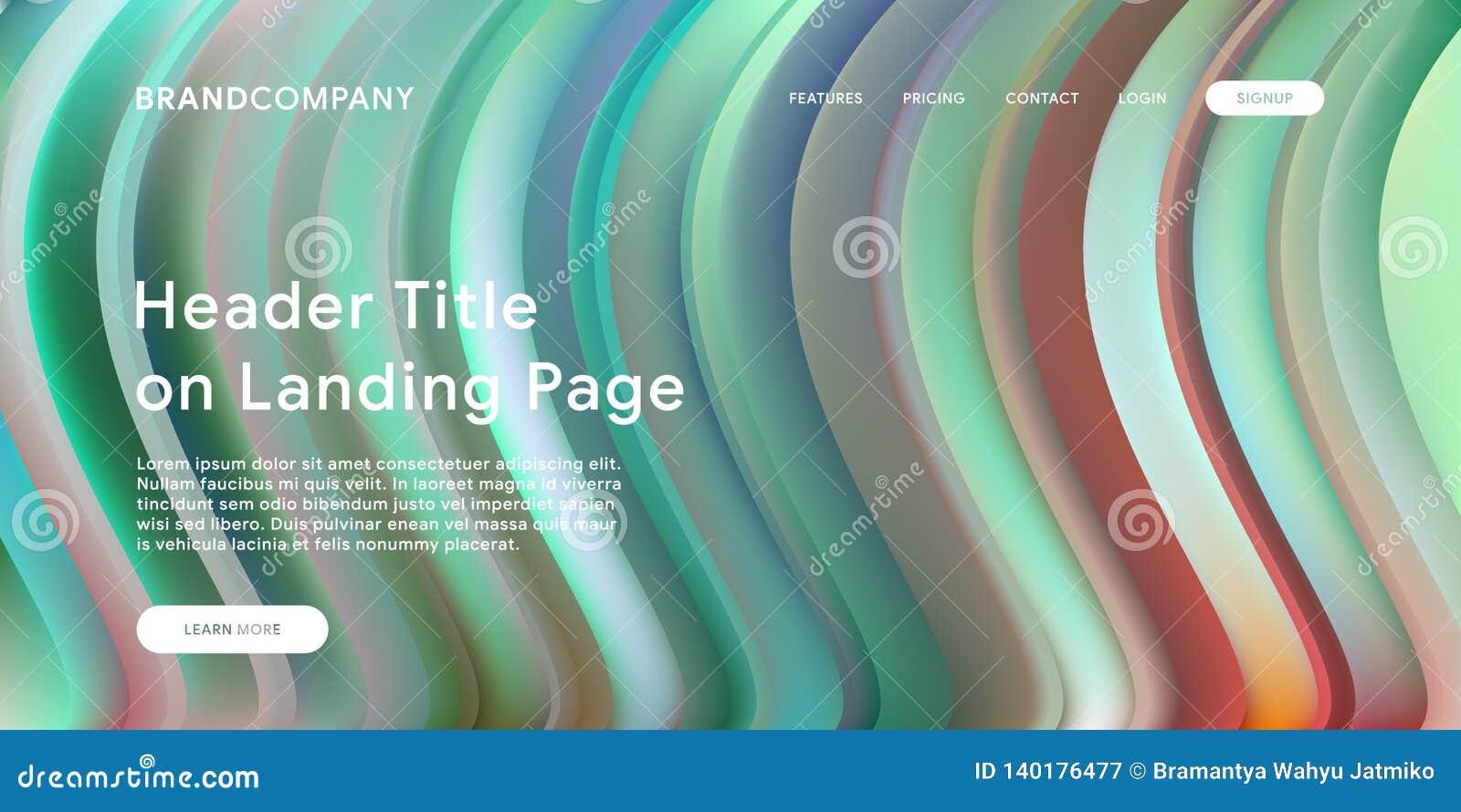 Idérik design med färgrika former för vätska Moderiktiga färglutningar Remsadesign Vätska formar sammansättning Futuristic design