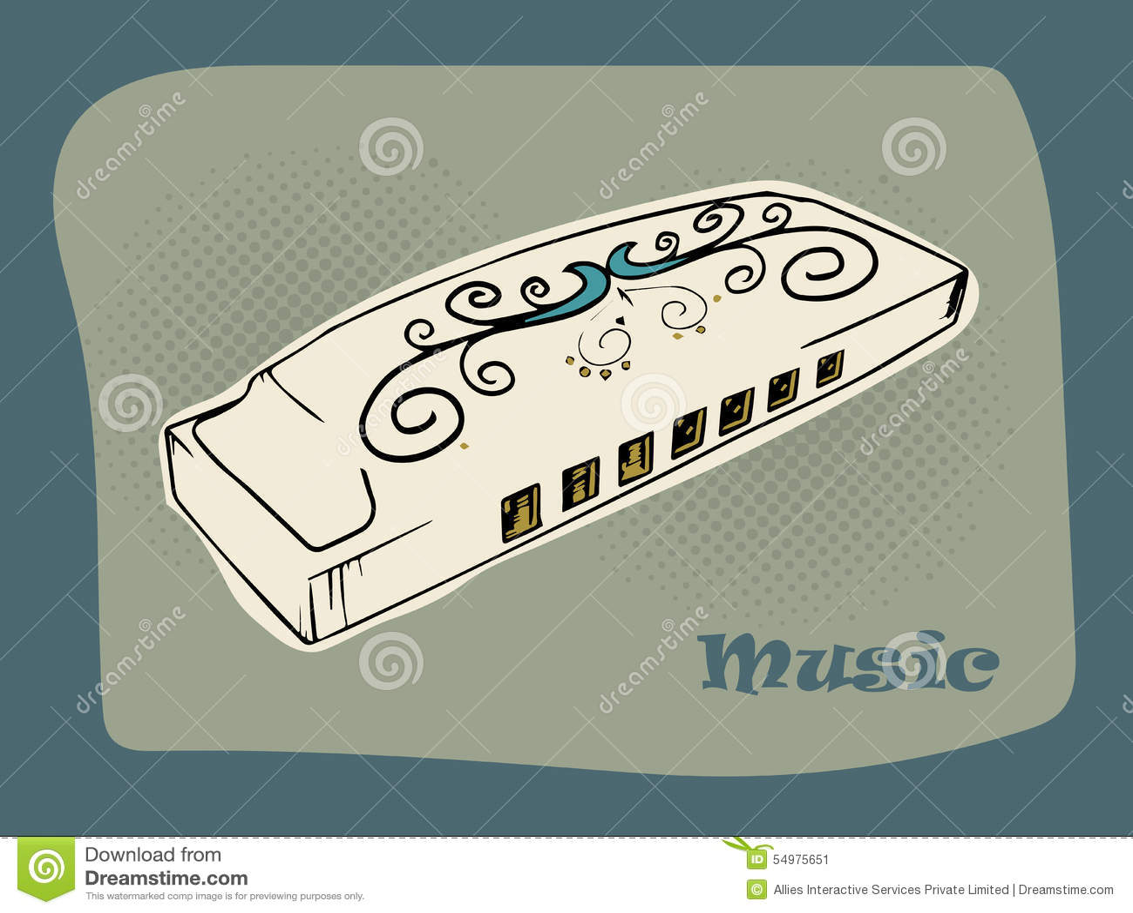 Idérik munspel för musikbegrepp