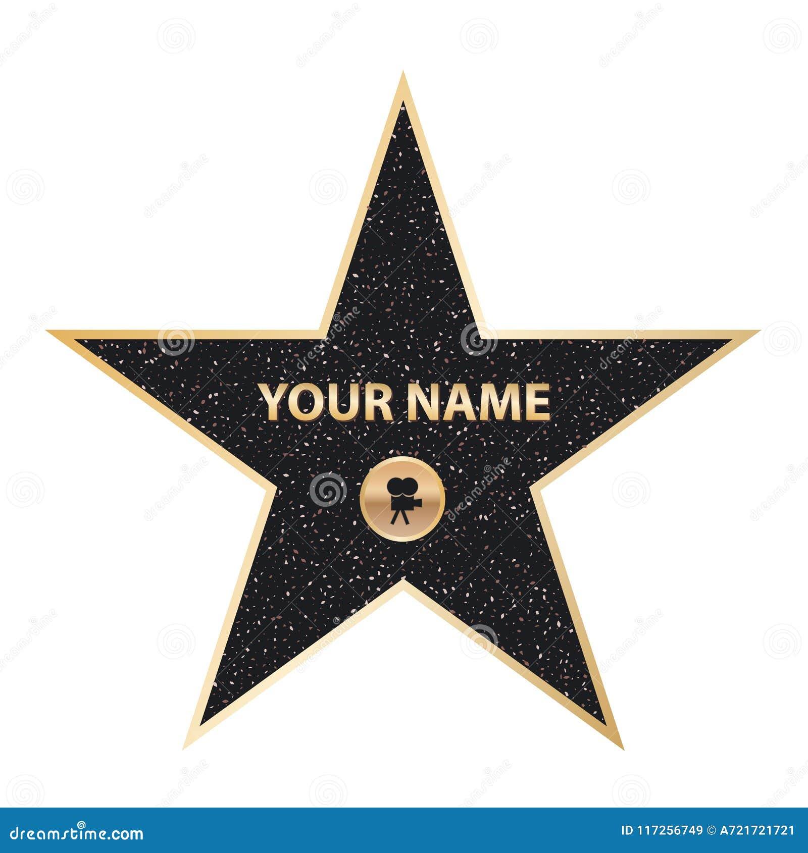 Idérik vektorillustration av stjärnan för berömd skådespelare för trottoar Hollywood går av berömmelsekonstdesign Abstrakt begrep