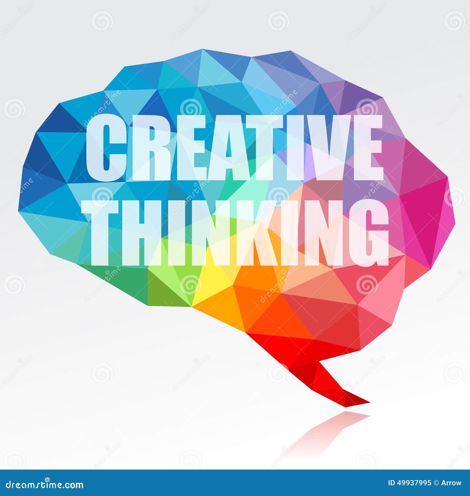 Idérikt hjärna för tänka