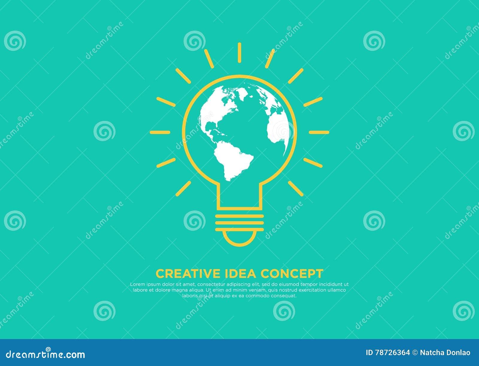 Idérikt idébegrepp, kläckning av ideervektorillustration