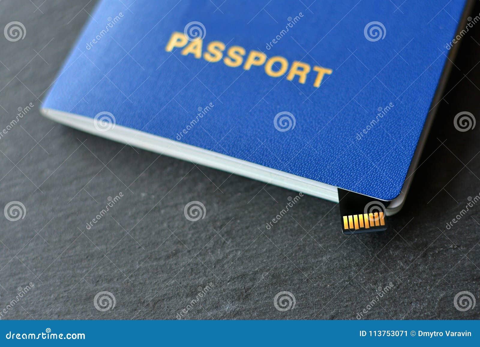 Id паспорта с микро- обломоком