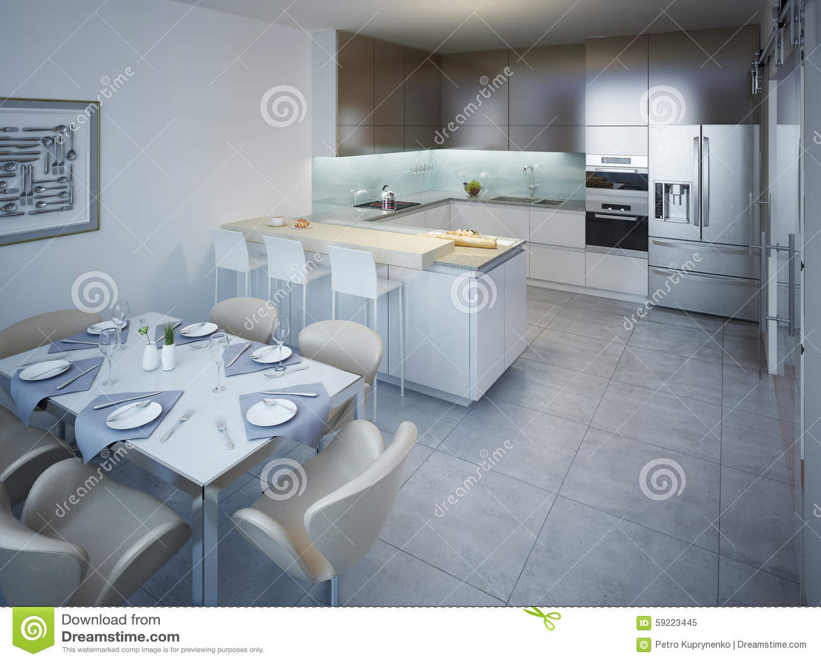 Idé av minimalist kök arkivfoto   bild: 59224597