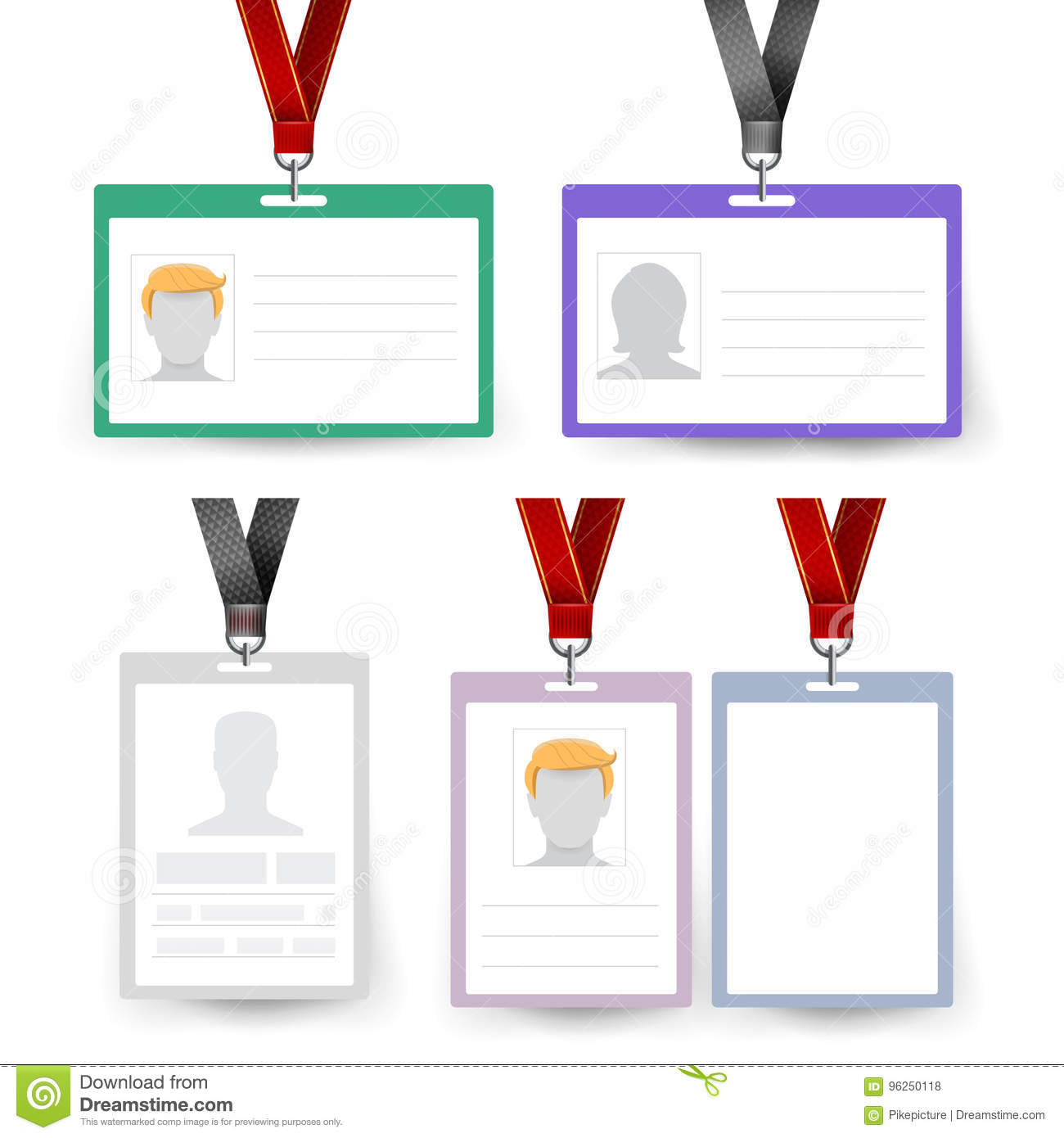 employee badge templates