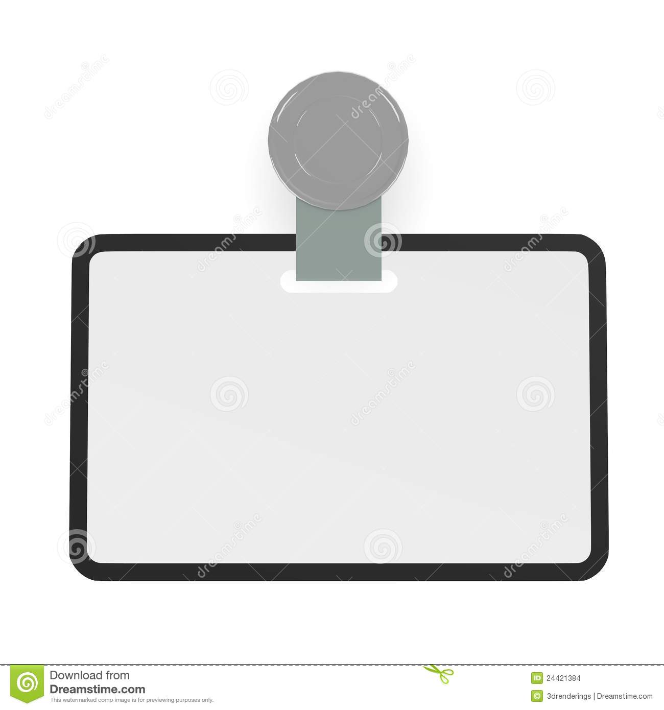 ID Badge Template Stock Illustration Illustration Of Render - Free id badge template