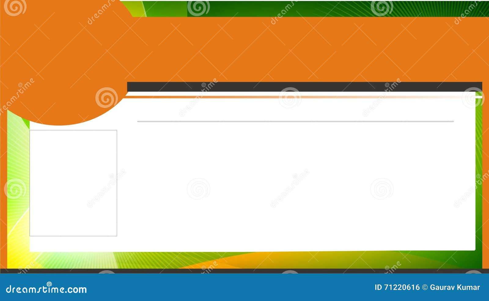 id card design horizontal stock illustration