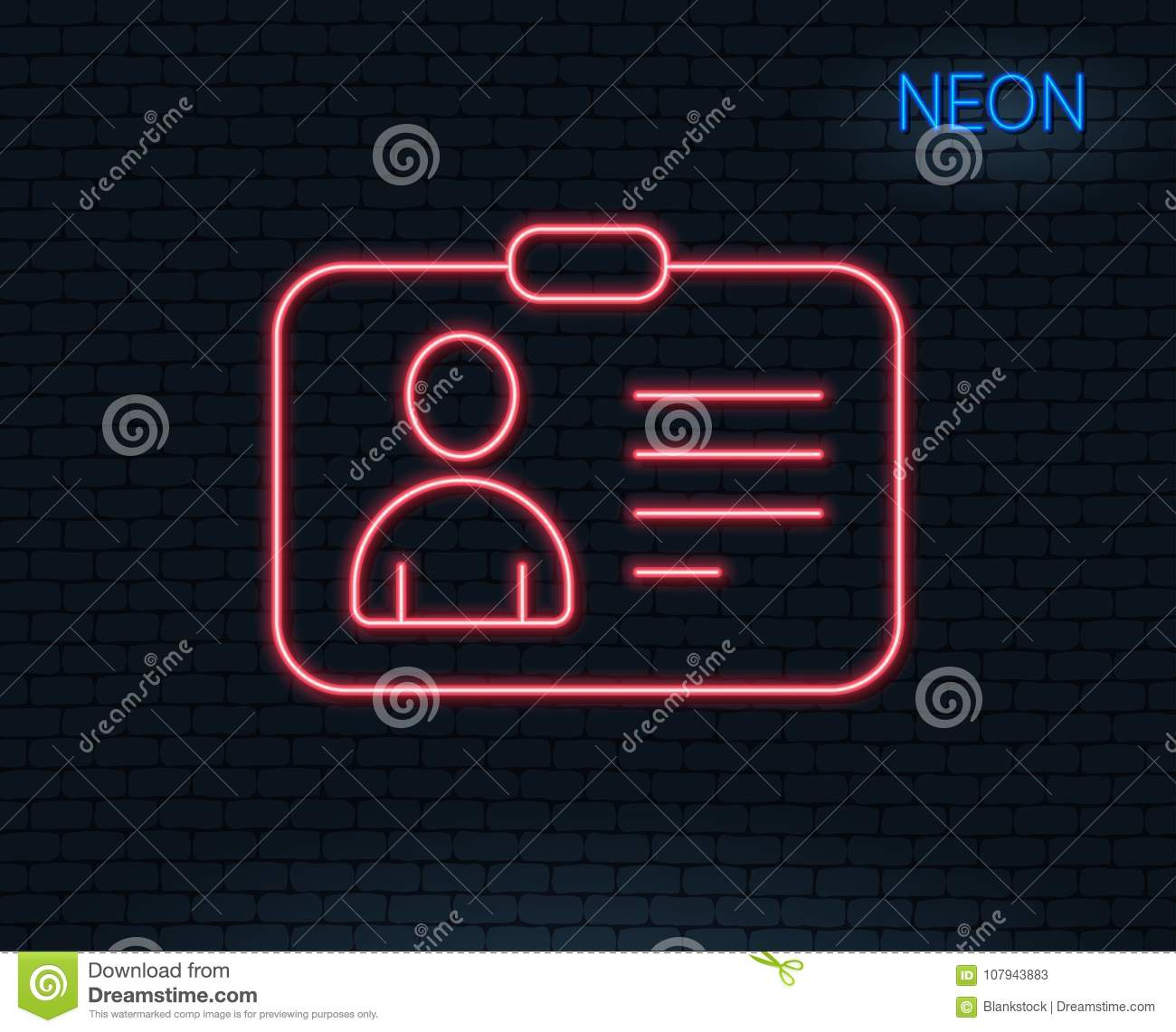 Id Card Line Icon User Profile Sign Stock Vector Illustration Of