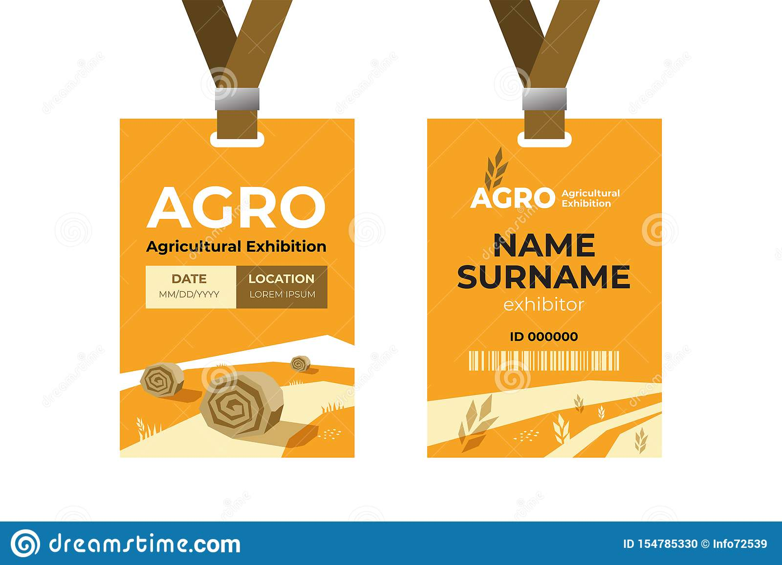 ID Card Template. Agro Logo. Stock Vector - Illustration of Regarding Conference Id Card Template