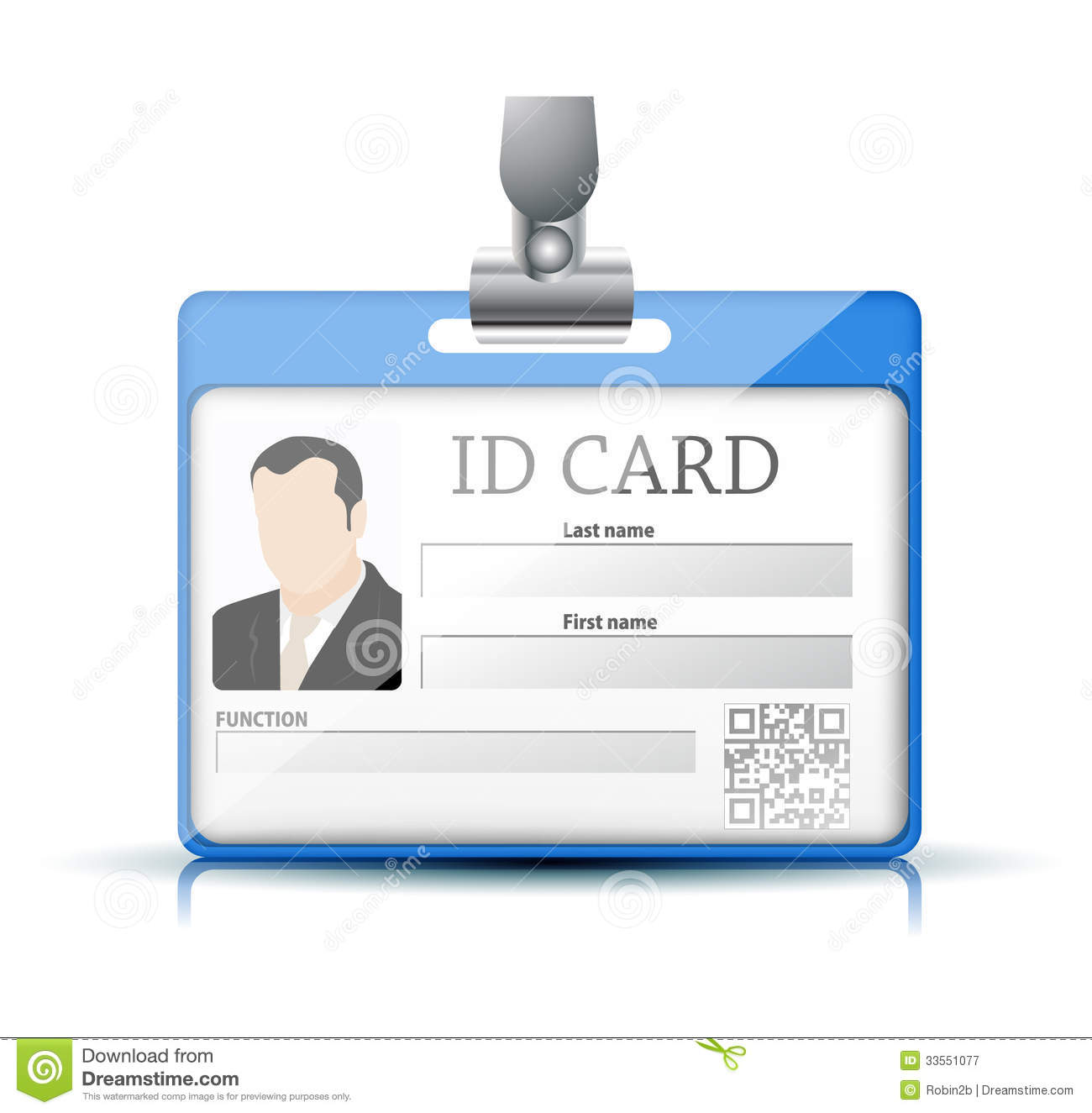 Id Card Royalty Free Stock Photography Image 33551077