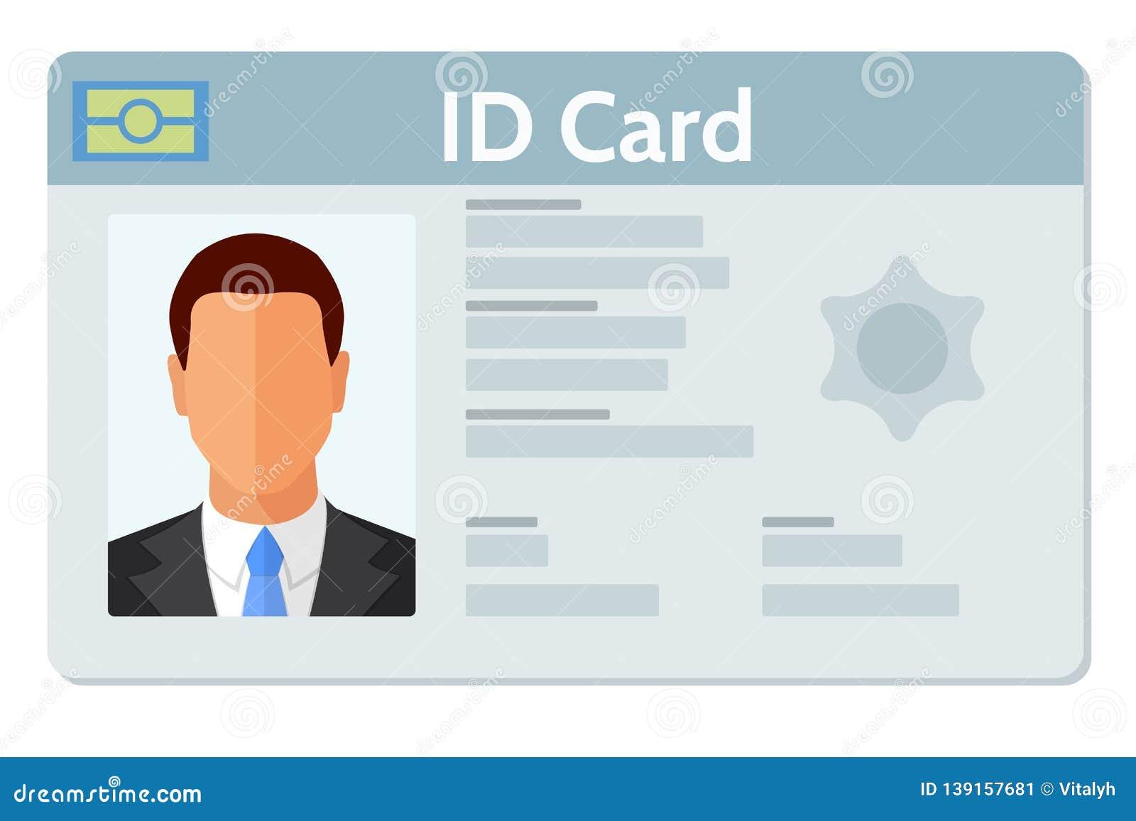Illustration Vector 139157681 Flat Card - Identity Design Background Style Of Design Stock Id