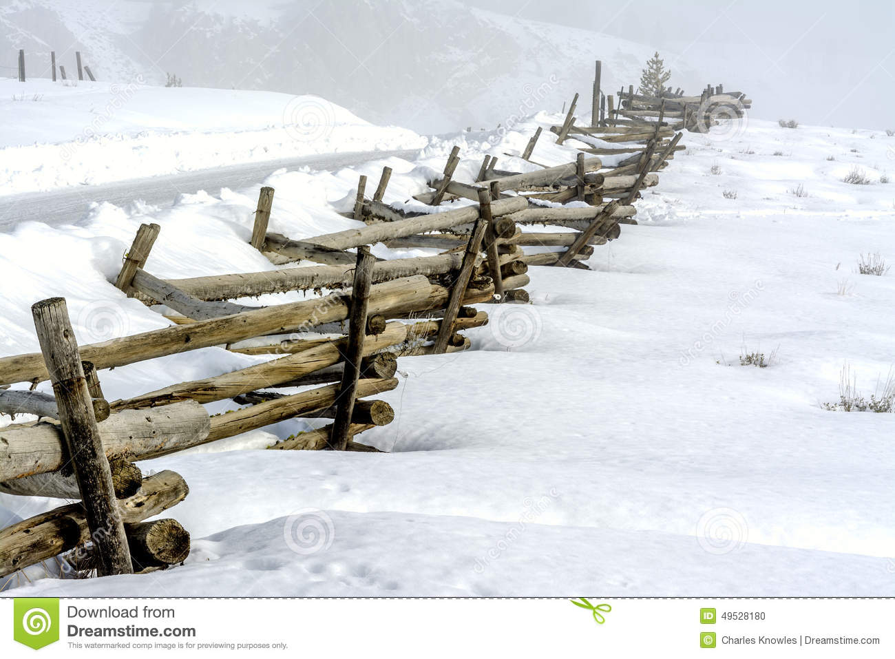 country rail fence winter - photo #28
