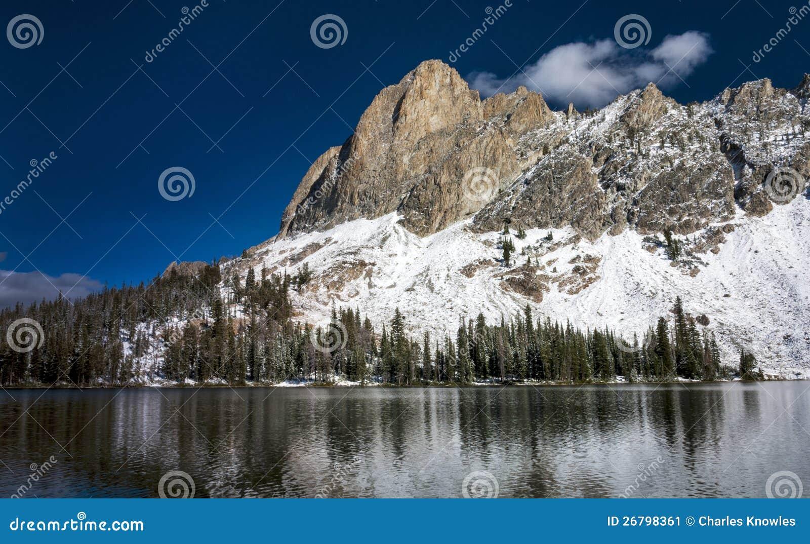 winter snow lake mountain - photo #15