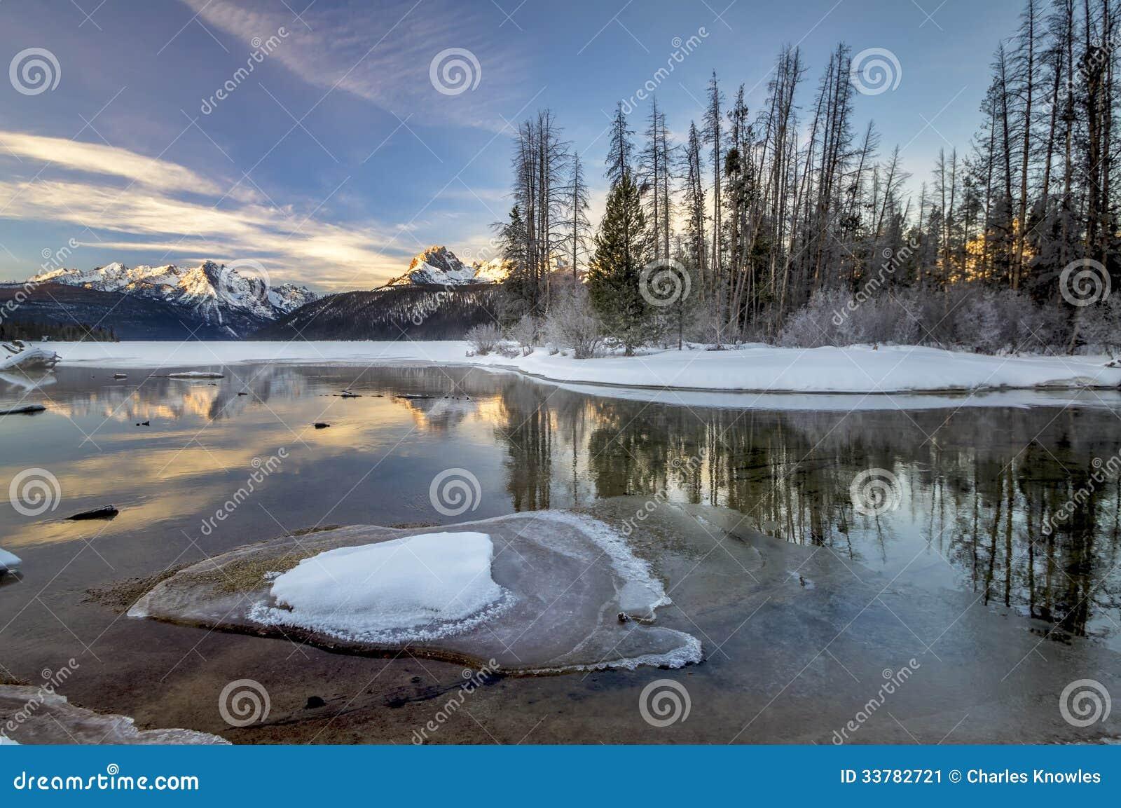 winter snow lake mountain - photo #29