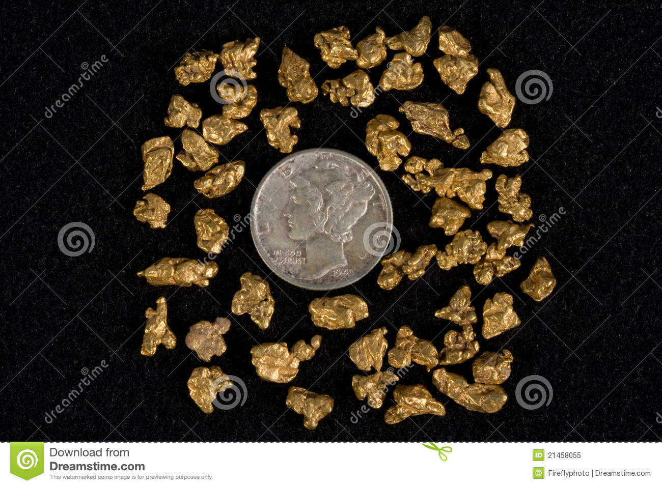 Idaho Placer Gold Nuggets Royalty Free Stock Photo Image