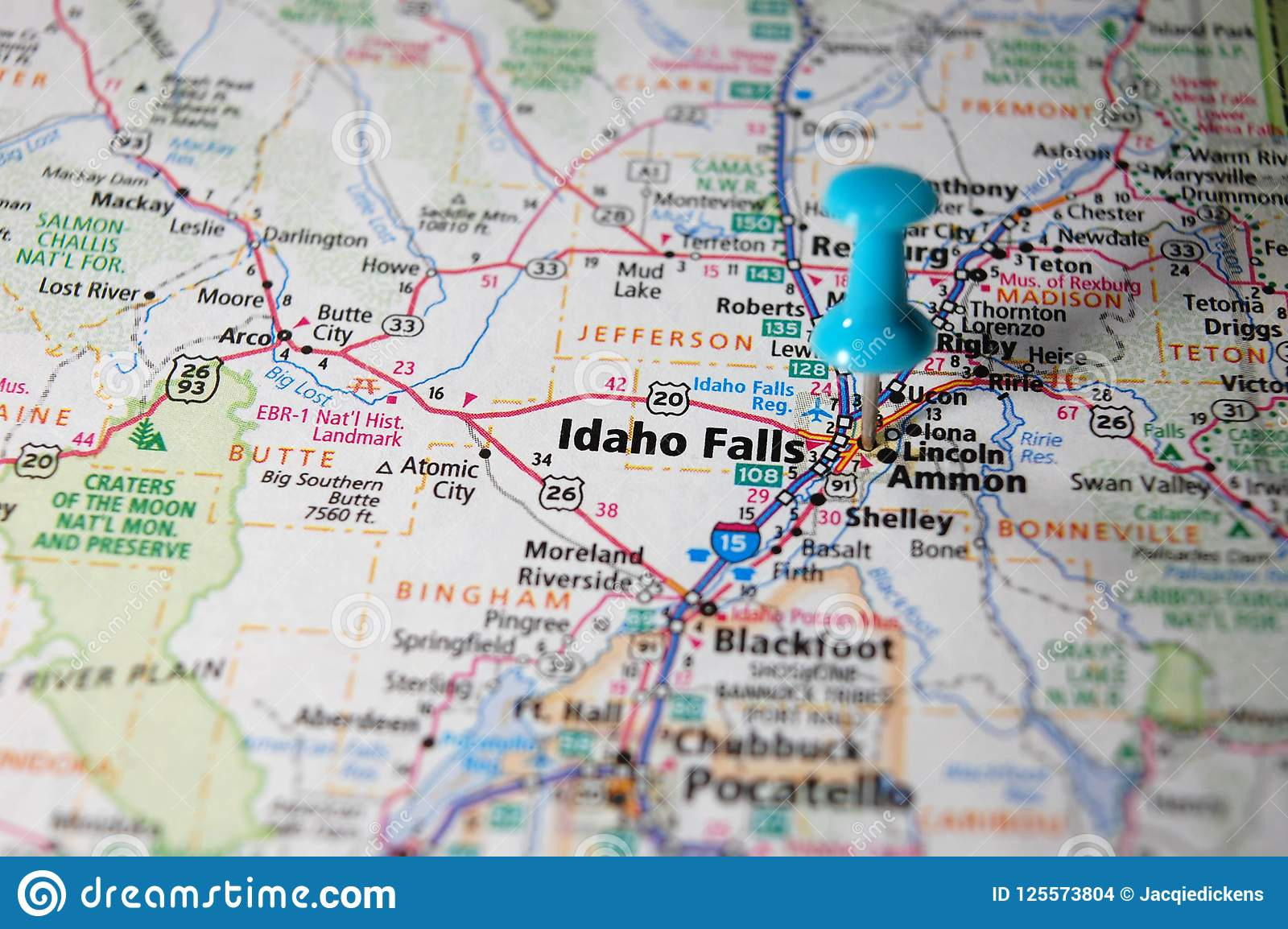 Idaho spadki, Idaho