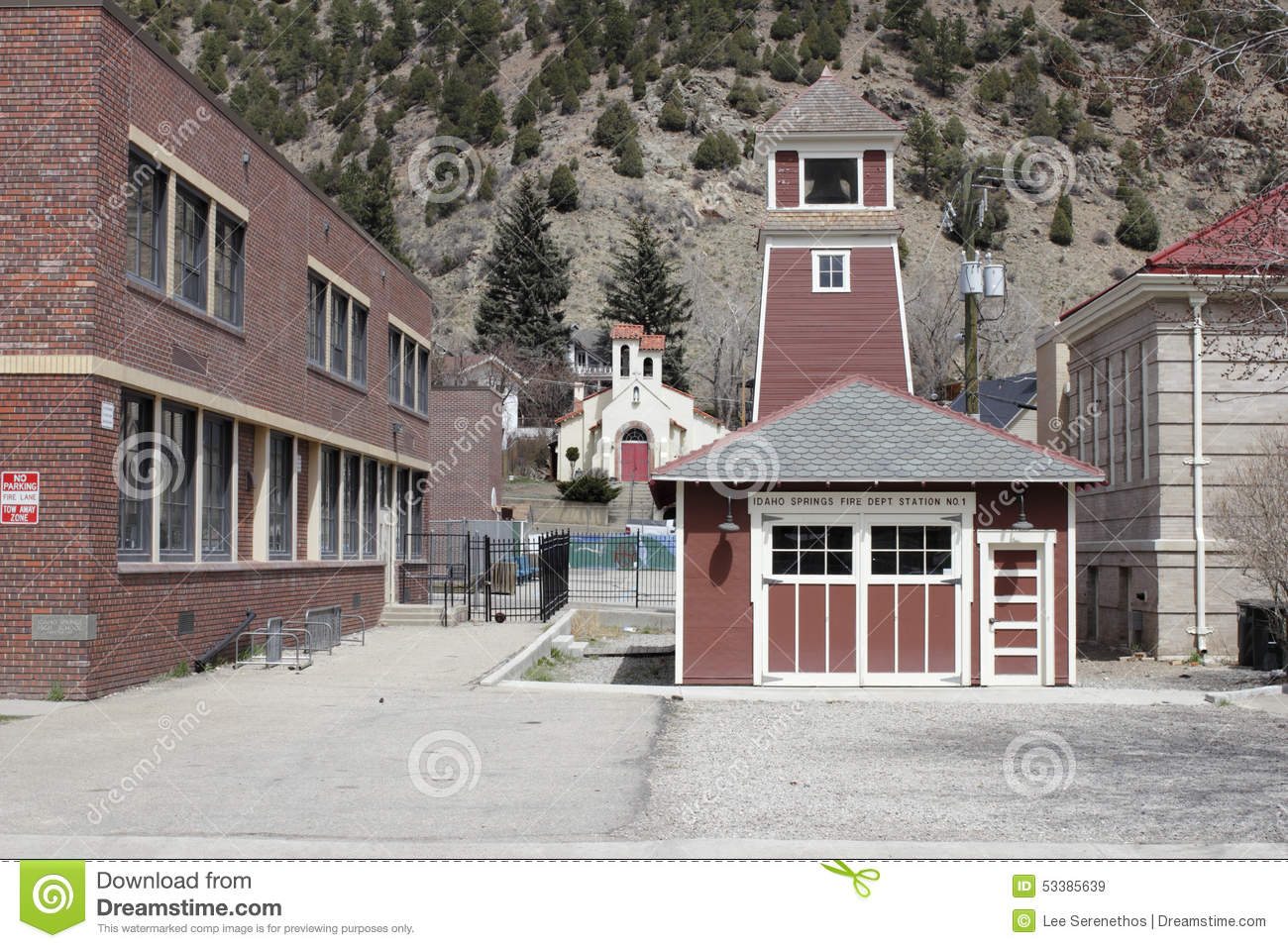 Idaho Springs Fire Department Station 1 Editorial Stock
