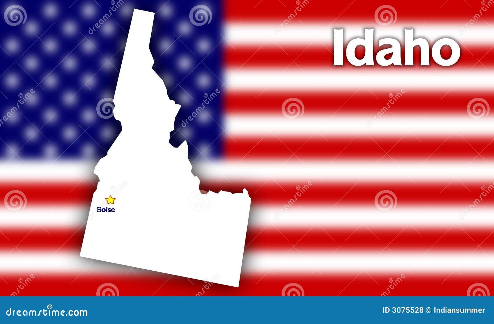 Idaho state contour