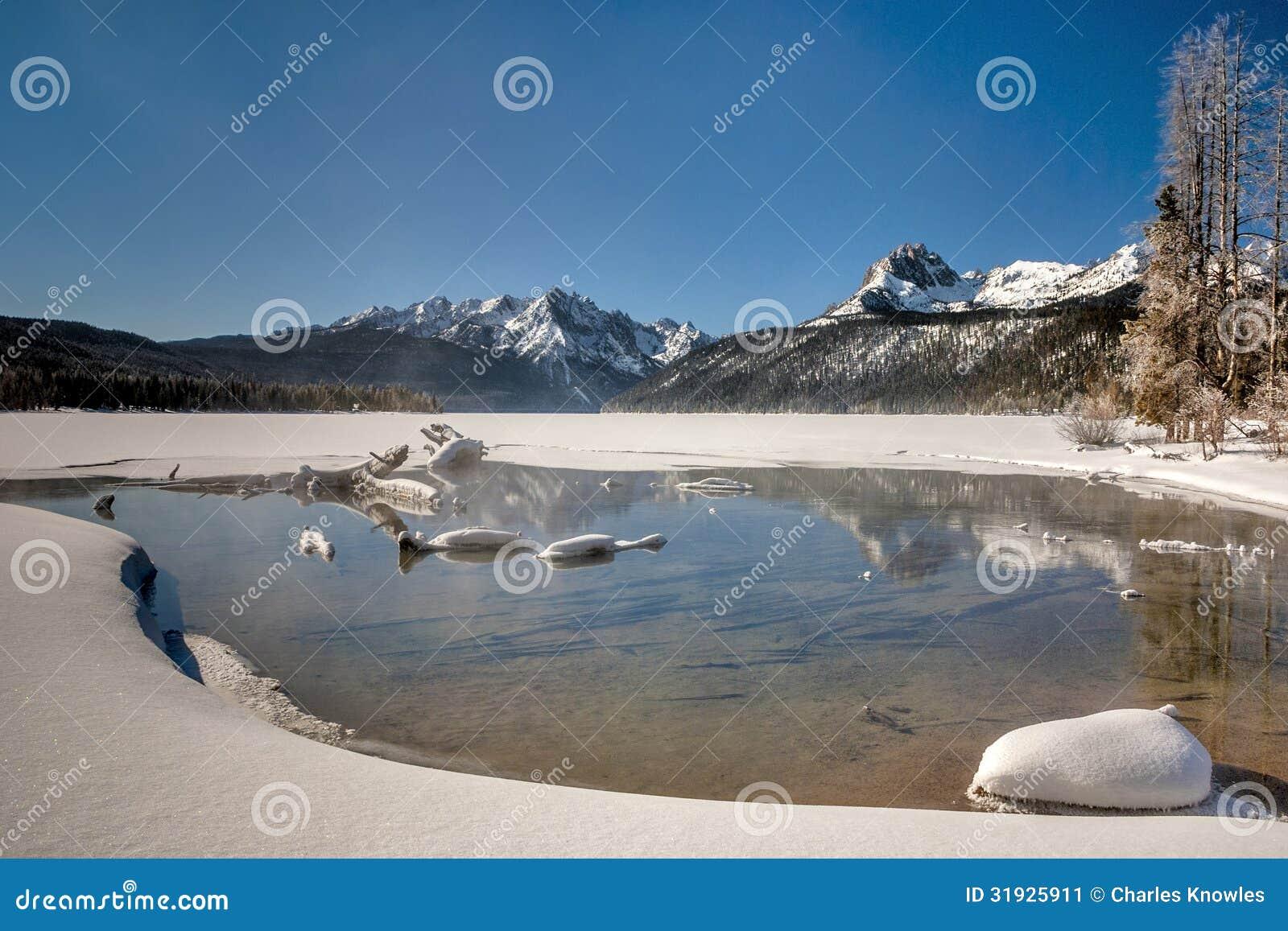 winter snow lake mountain - photo #32