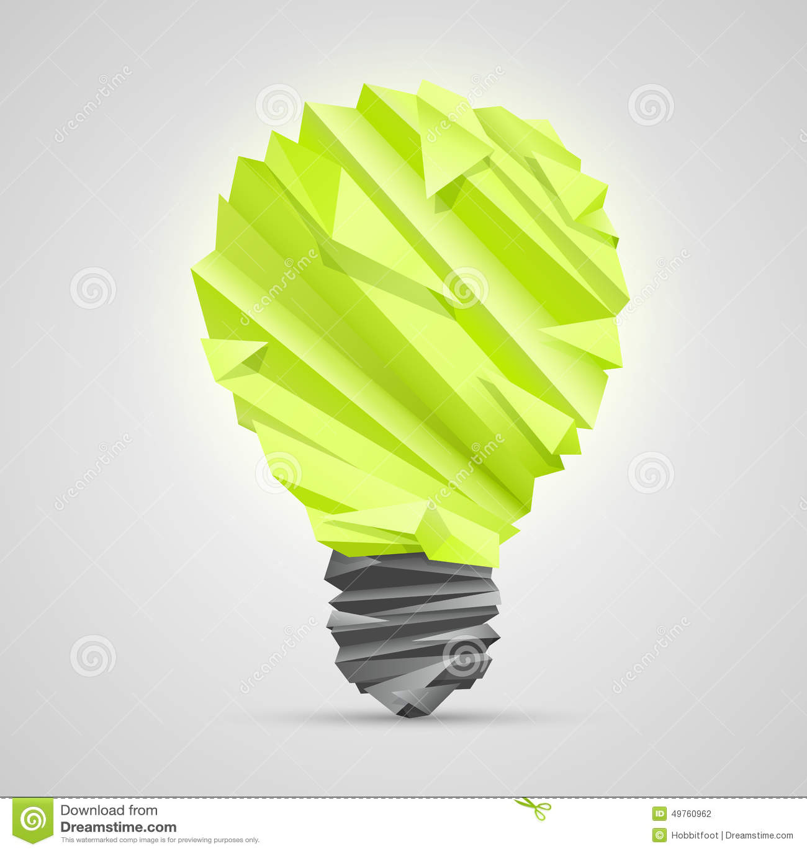 id e cr ative de lampe d 39 origami illustration de vecteur. Black Bedroom Furniture Sets. Home Design Ideas