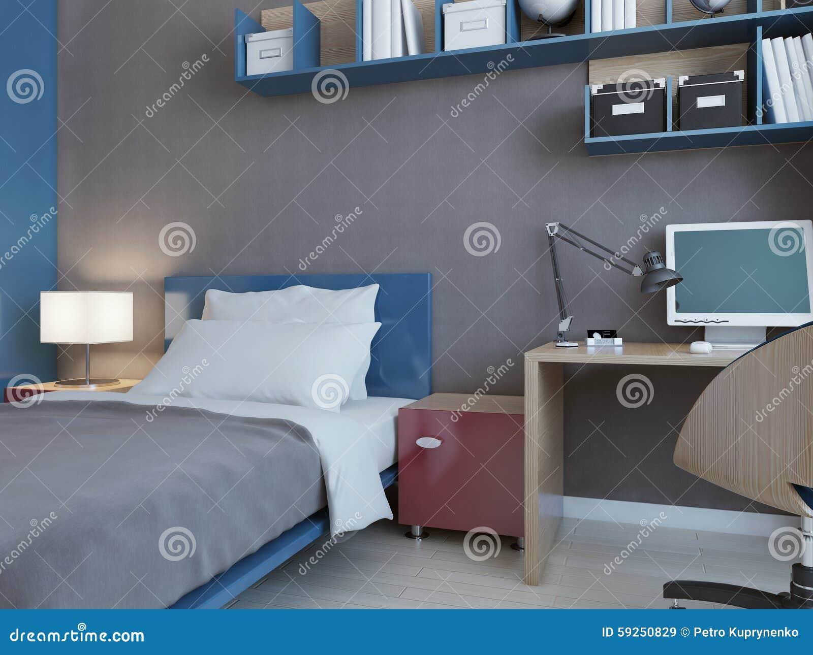 Idée de chambre à coucher d'enfants avec les murs gris ...