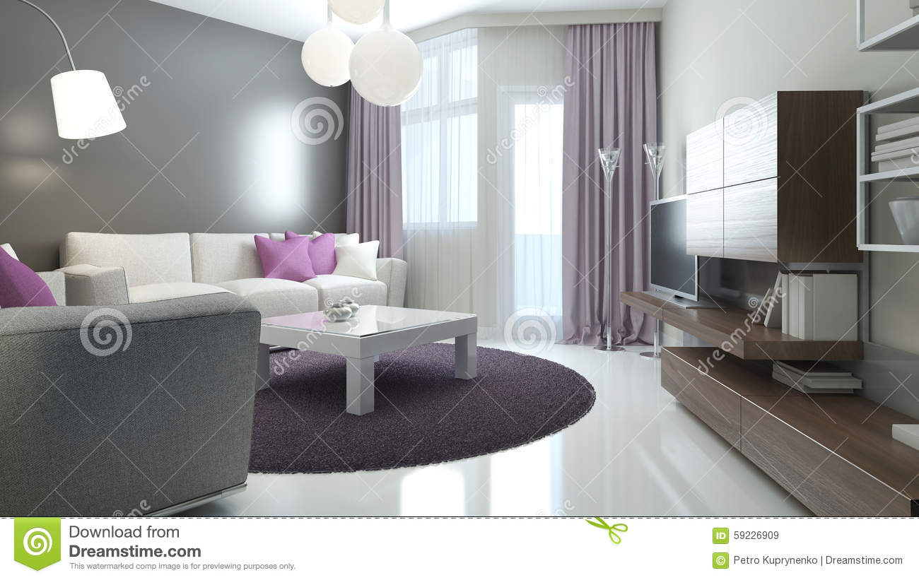 Idée de salon moderne illustration stock   image: 59226909