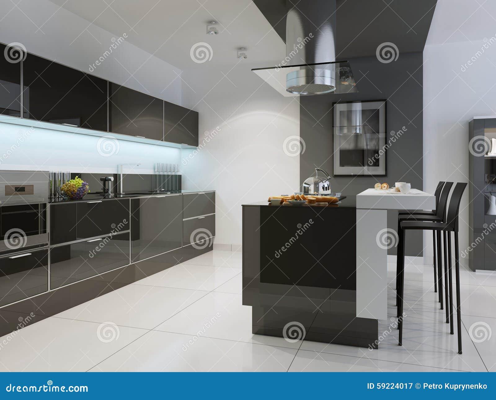 Idée de style de techno de cuisine photo stock   image: 59224017