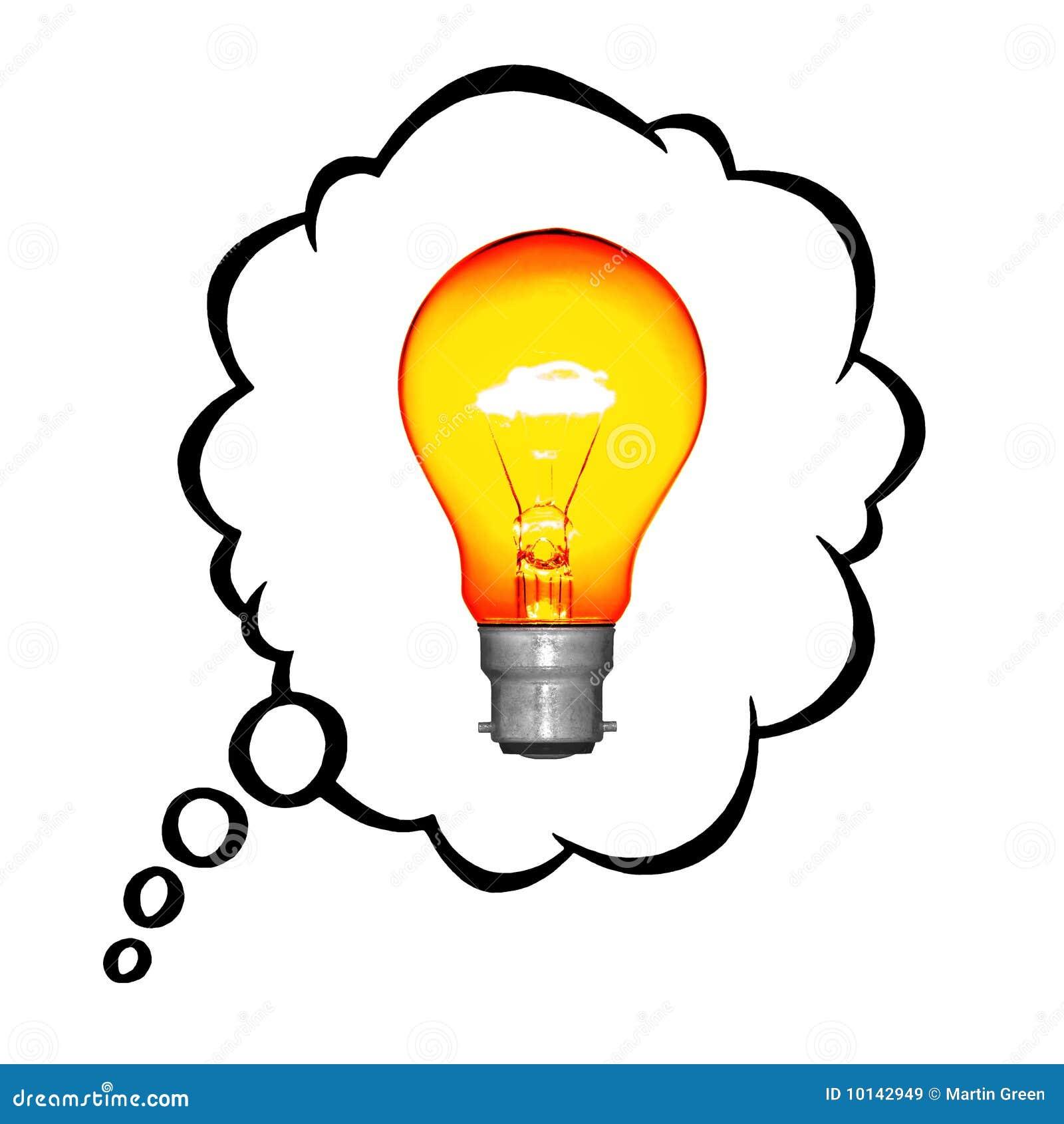 Idée Lumineuse Images libres de droits - Image: 10142949