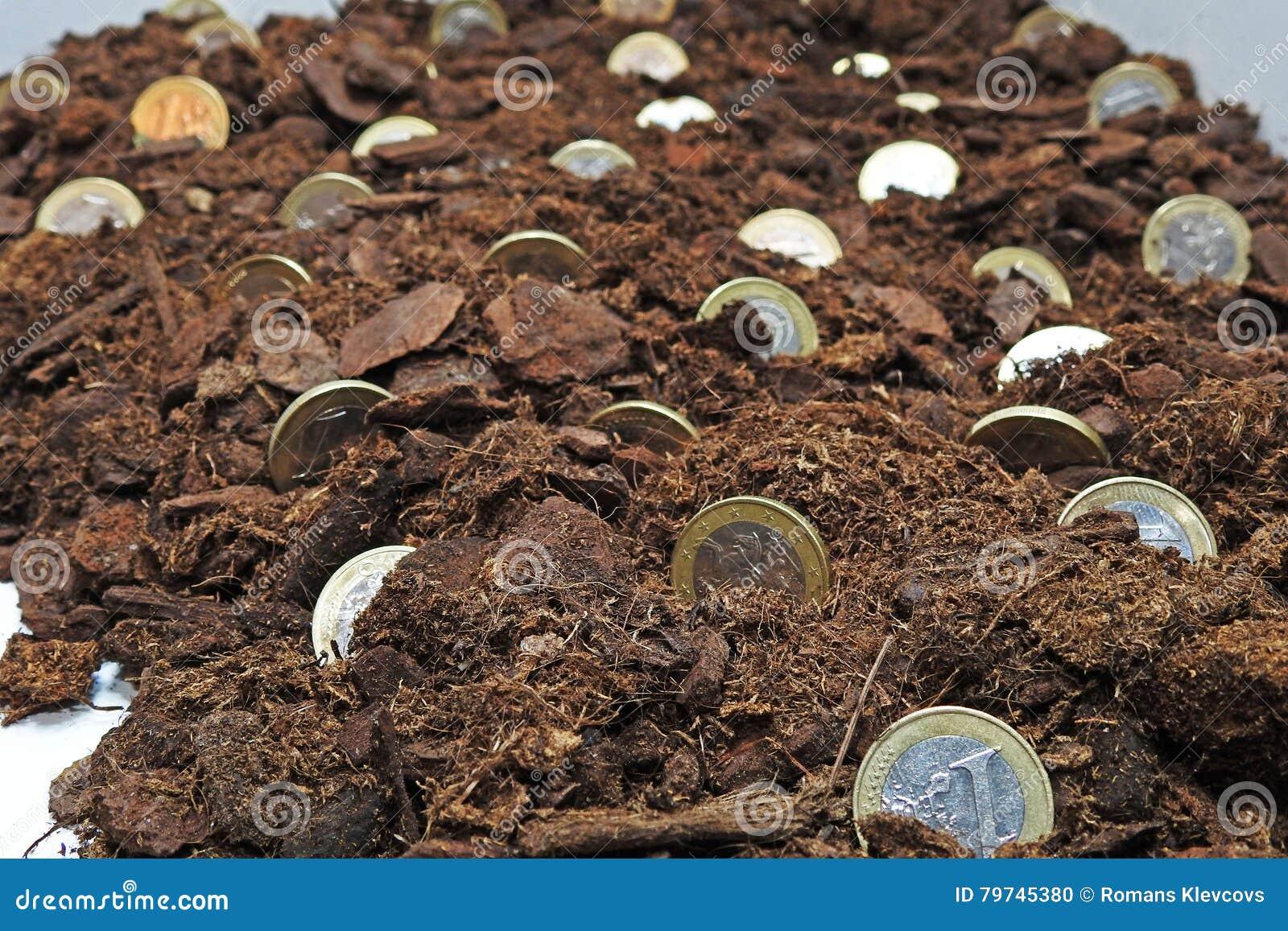 Idea abstracta de crecer el dinero