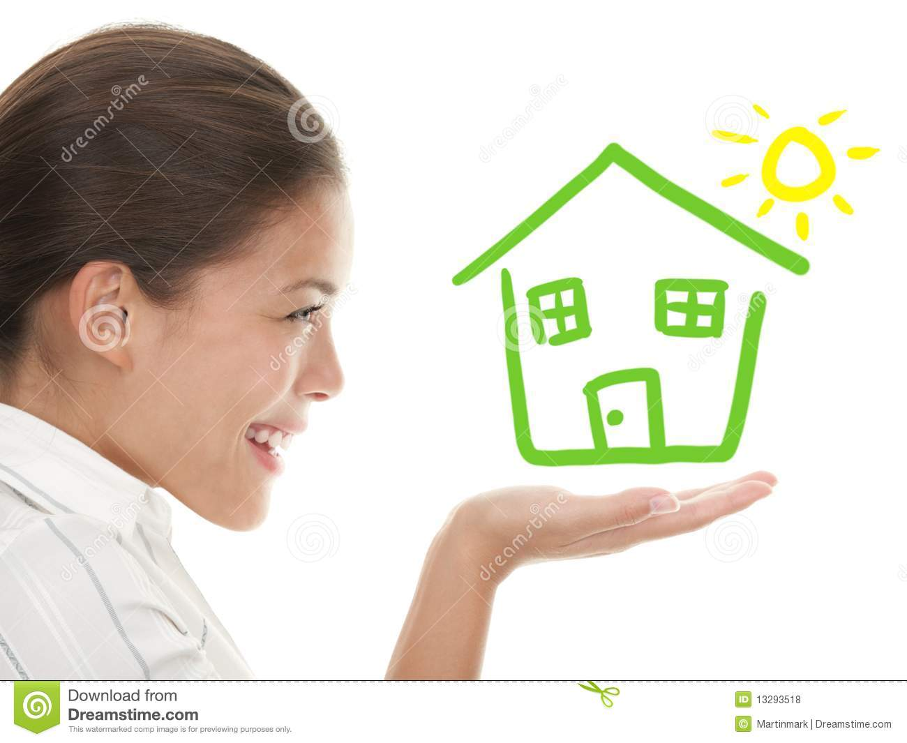 Idea of beeing a Happy house owner concept