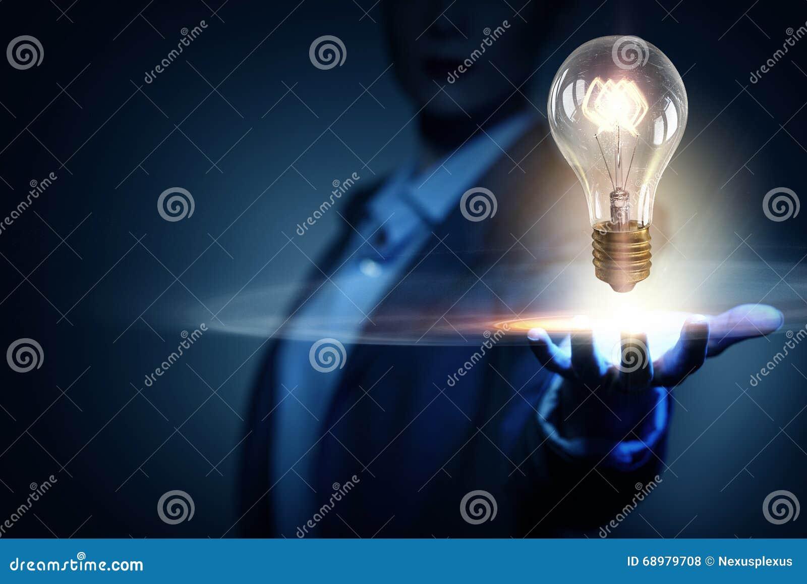 Idea brillante para el éxito