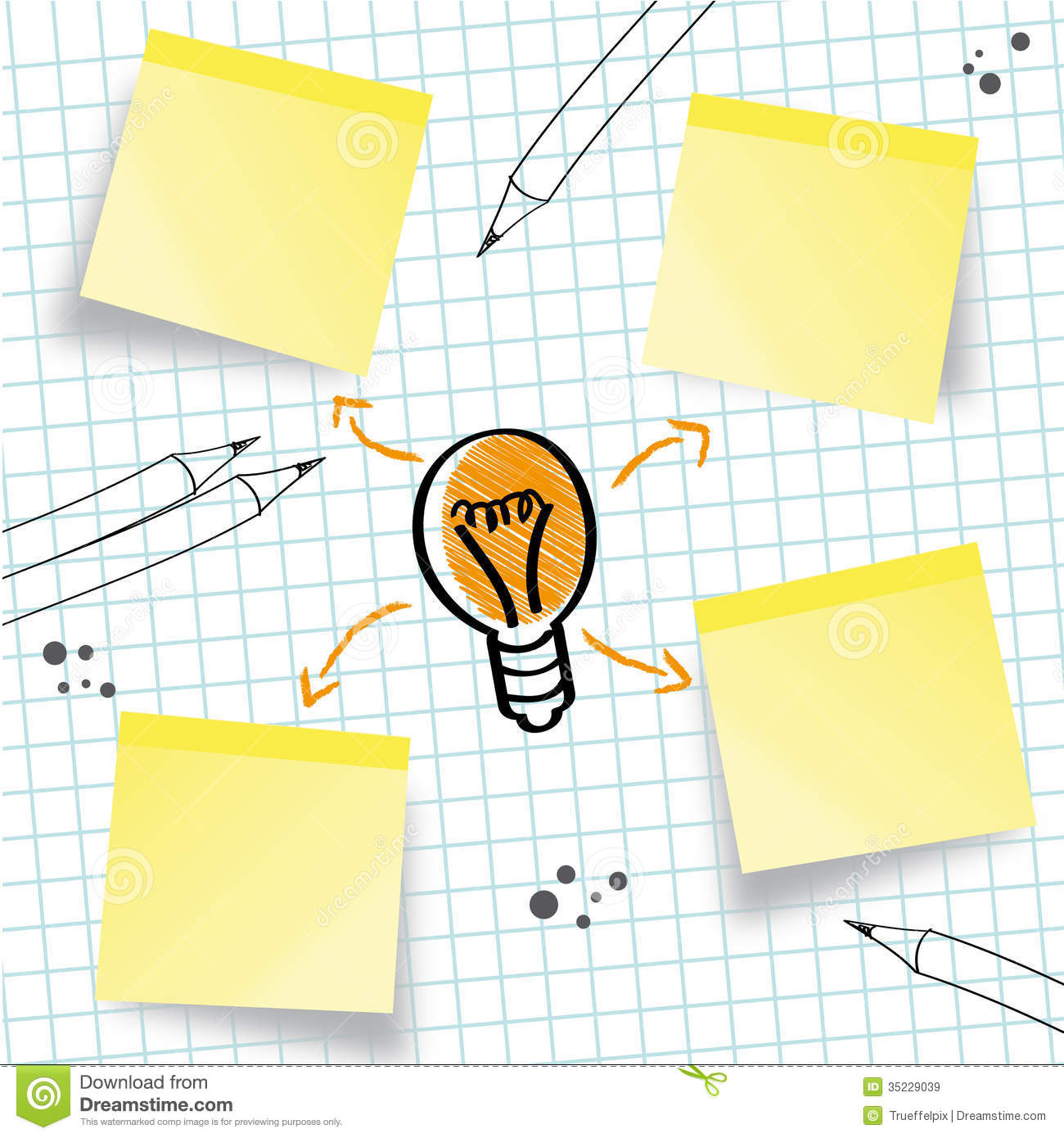 Idea, Concept, Idea Sketch Royalty Free Stock Images - Image: 35229039