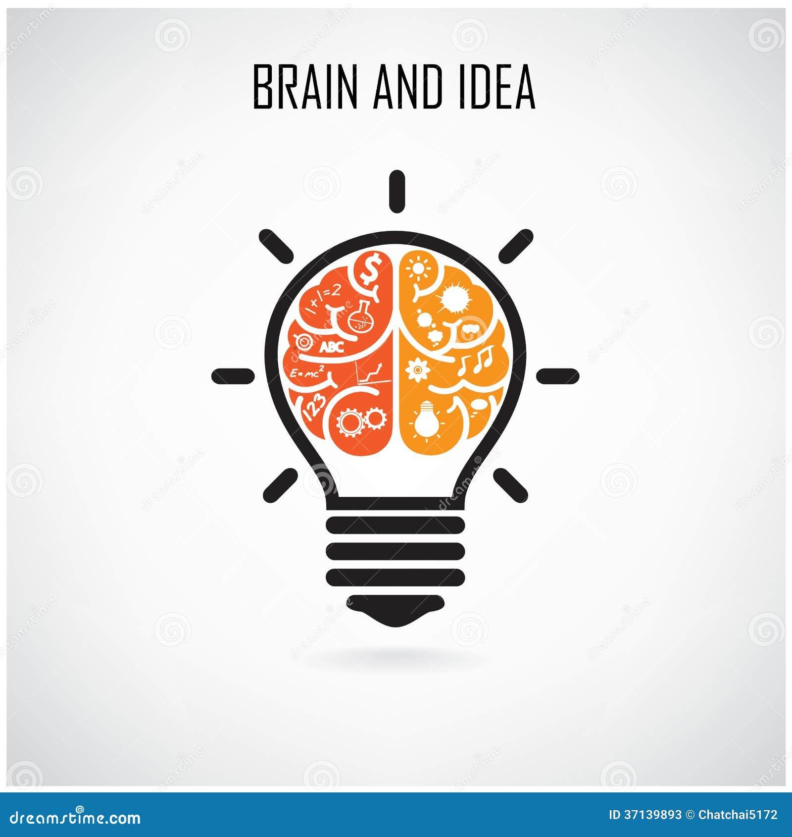 Idea creativa del cerebro