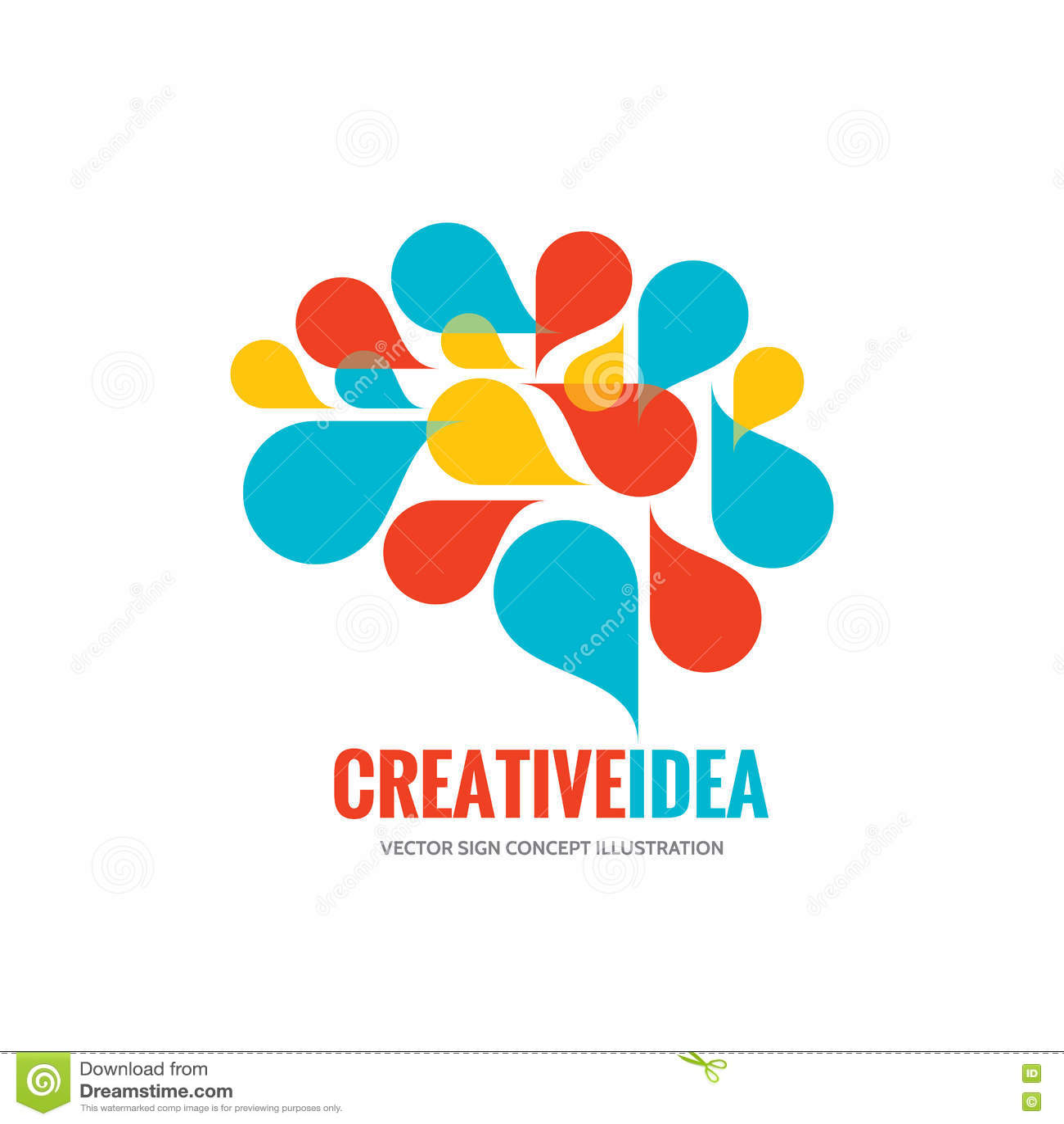 Idea creativa - ejemplo del concepto de la plantilla del logotipo del vector del negocio Muestra creativa abstracta del cerebro h