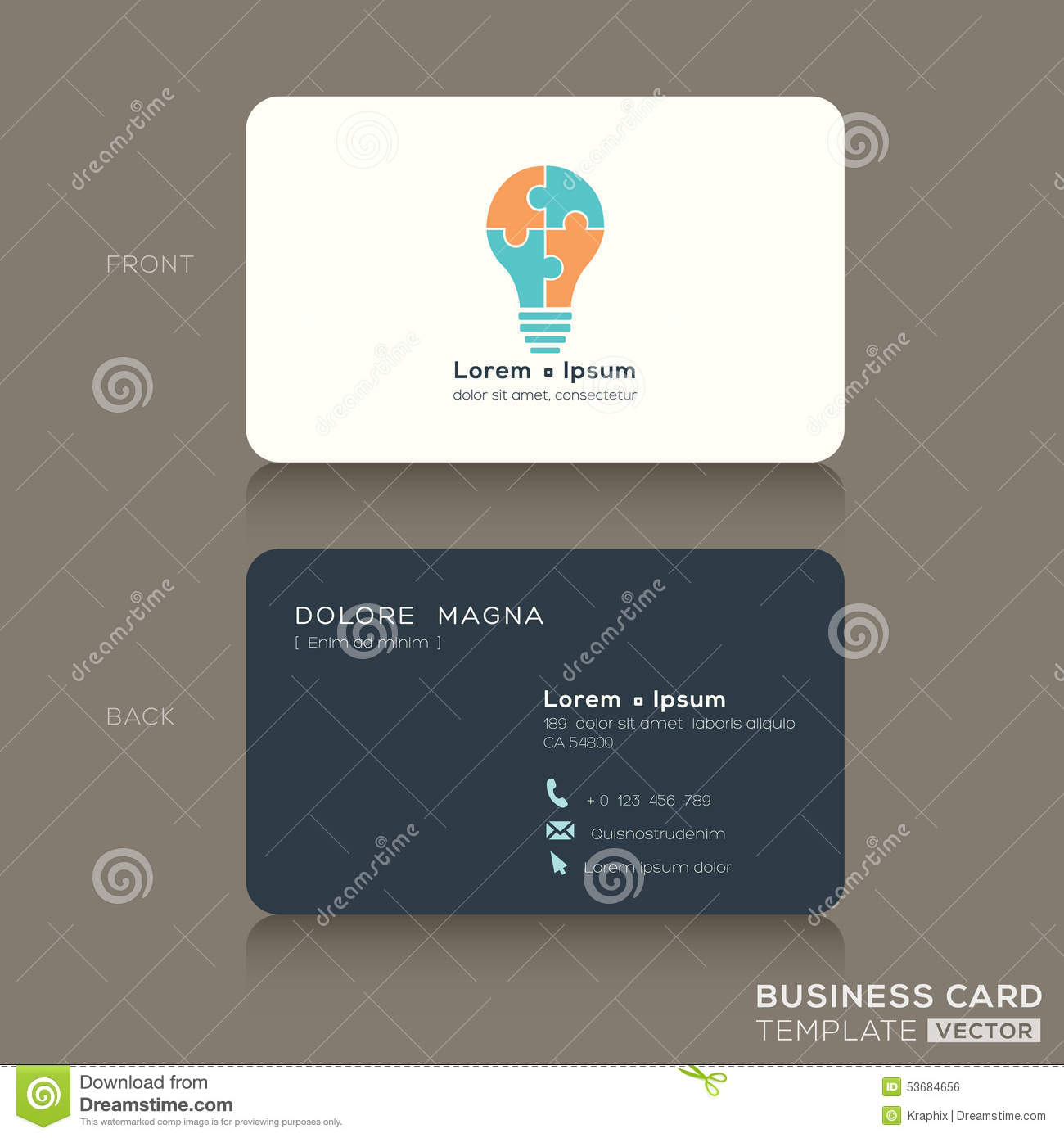 Idea creative business cards design template stock vector idea creative business cards design template wajeb Choice Image