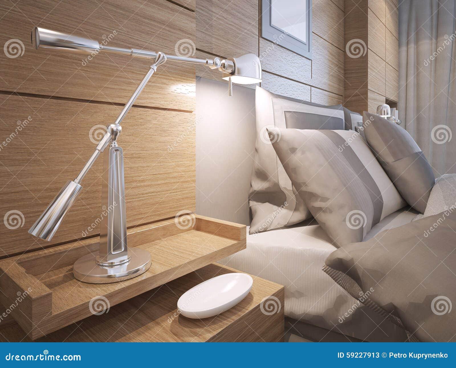 Idea del dormitorio del desván