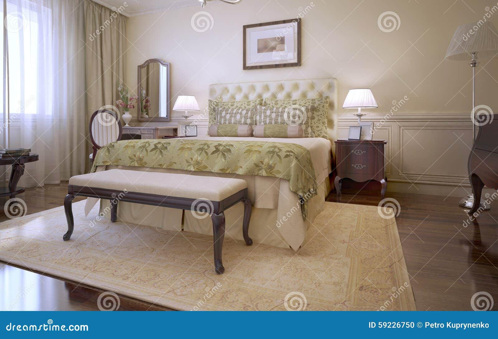 Download Idea Del Dormitorio Inglés Principal Stock de ilustración - Ilustración de dormitorio, clásico: 59226750