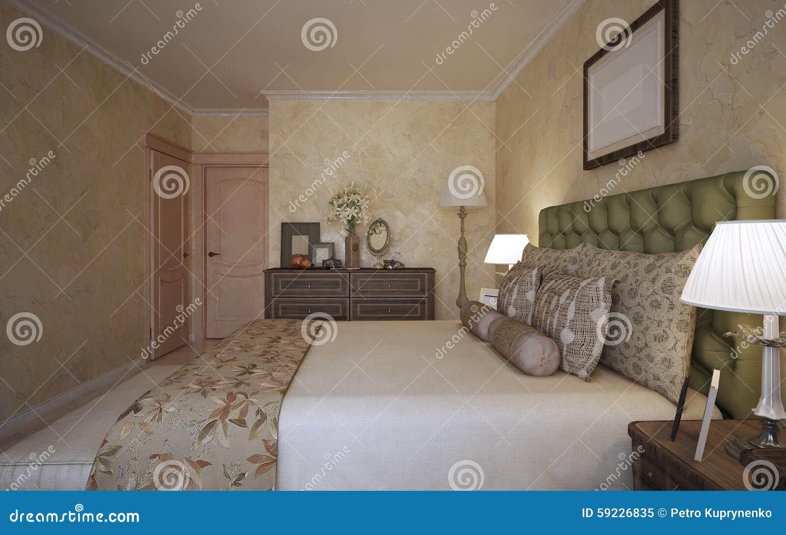 Idea del dormitorio mediterráneo