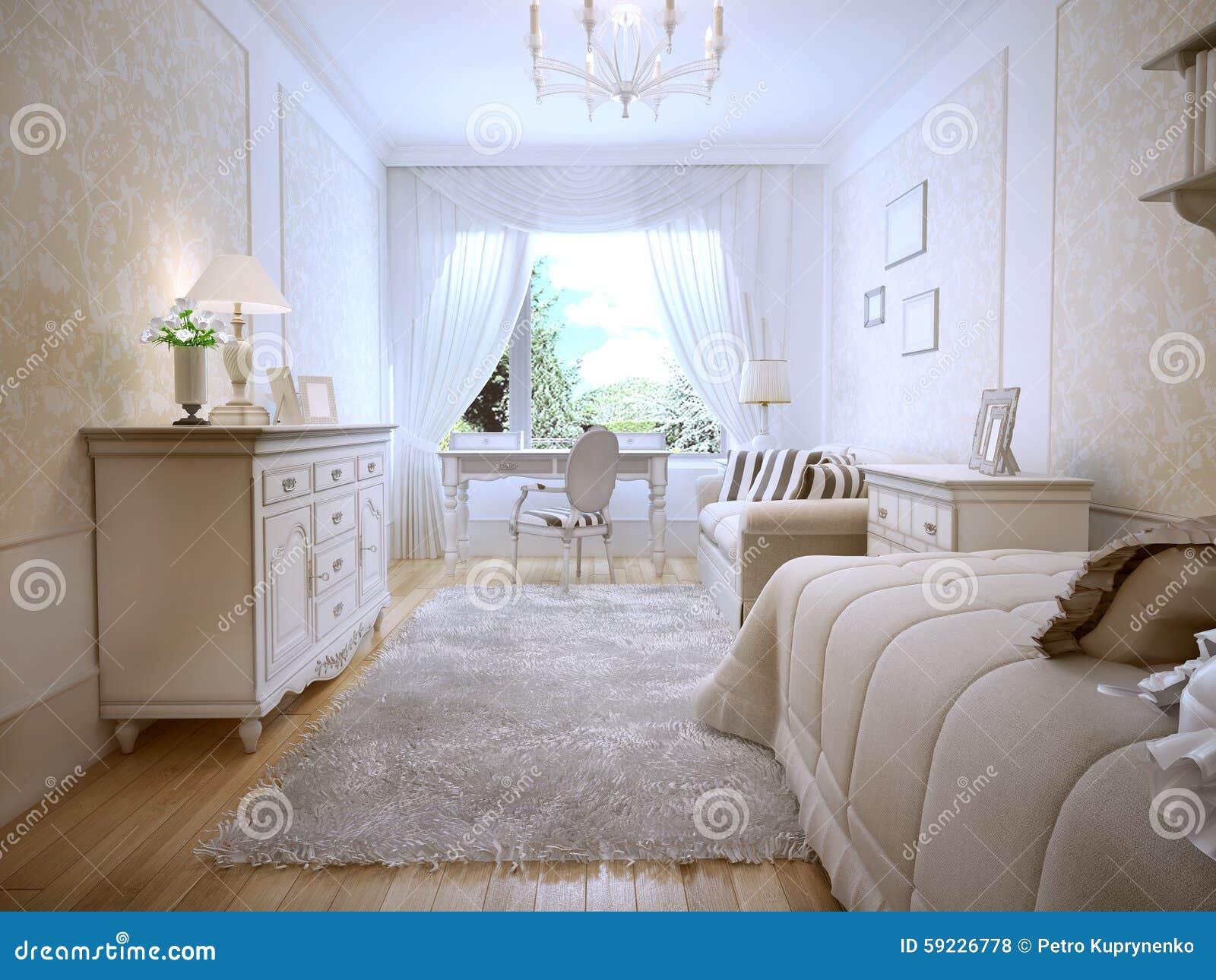Download Idea Del Dormitorio Principal Clásico Stock de ilustración - Ilustración de cama, casero: 59226778