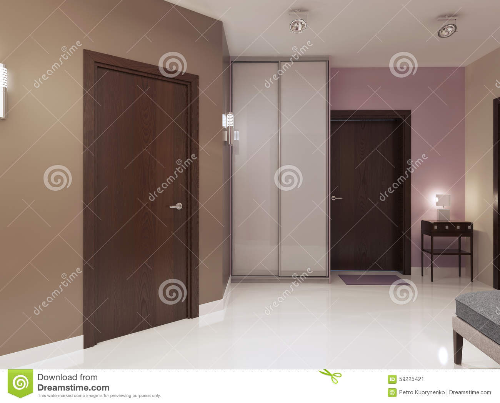 Idea del hall de entrada minimalista